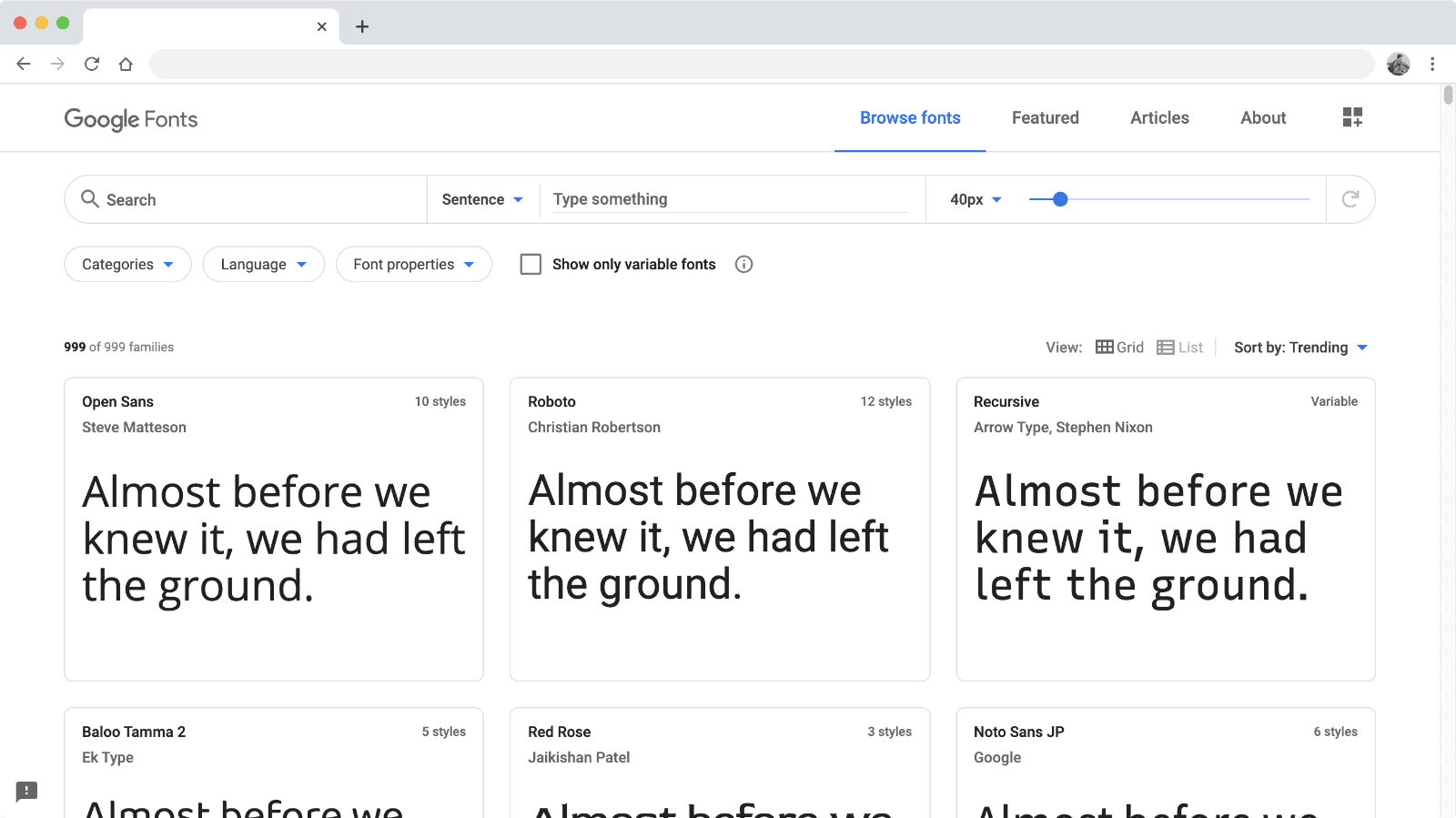Google Fonts で追加したいフォントを選択する
